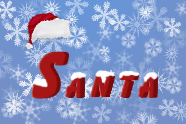 Santa Text image 18