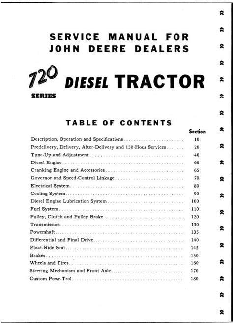 John Deere 720 Diesel Tractor Service Manual