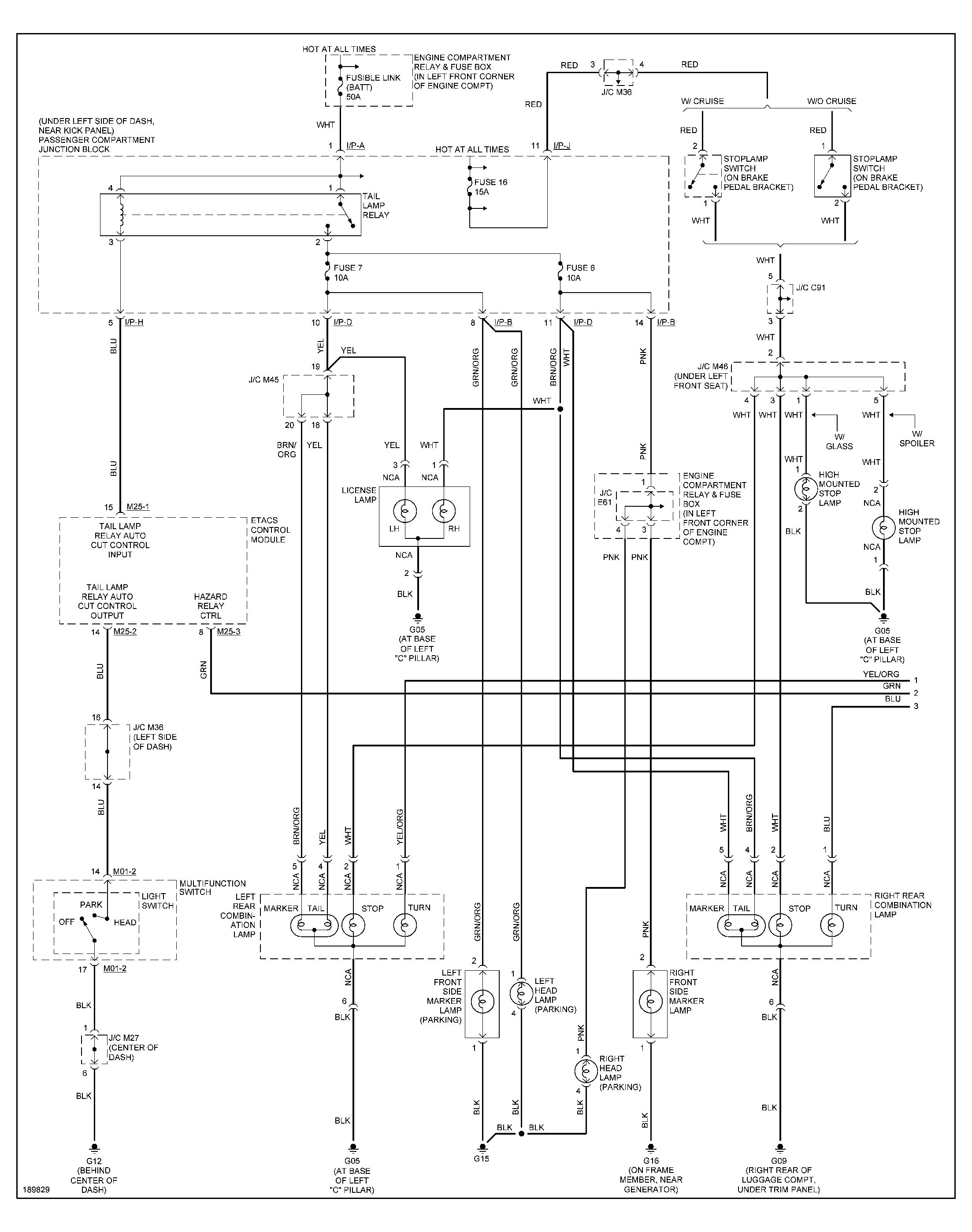 2000 Hyundai Accent Fuse Diagram
