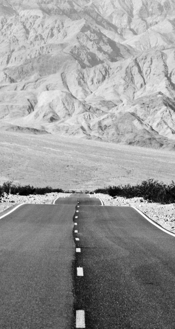 The Iphone Wallpapers Black And White Landscape Road
