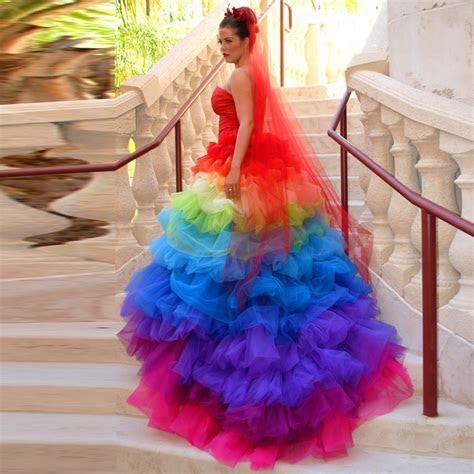 Popular Rainbow Wedding Dresses Buy Cheap Rainbow Wedding
