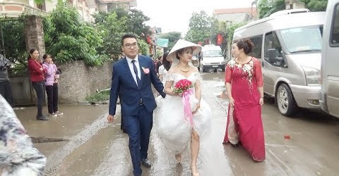 Chú Rể cao to đẹp Trai cưới Cô Dâu 45 kg xinh sắn - Gặp MC chém gió như đúng rôif