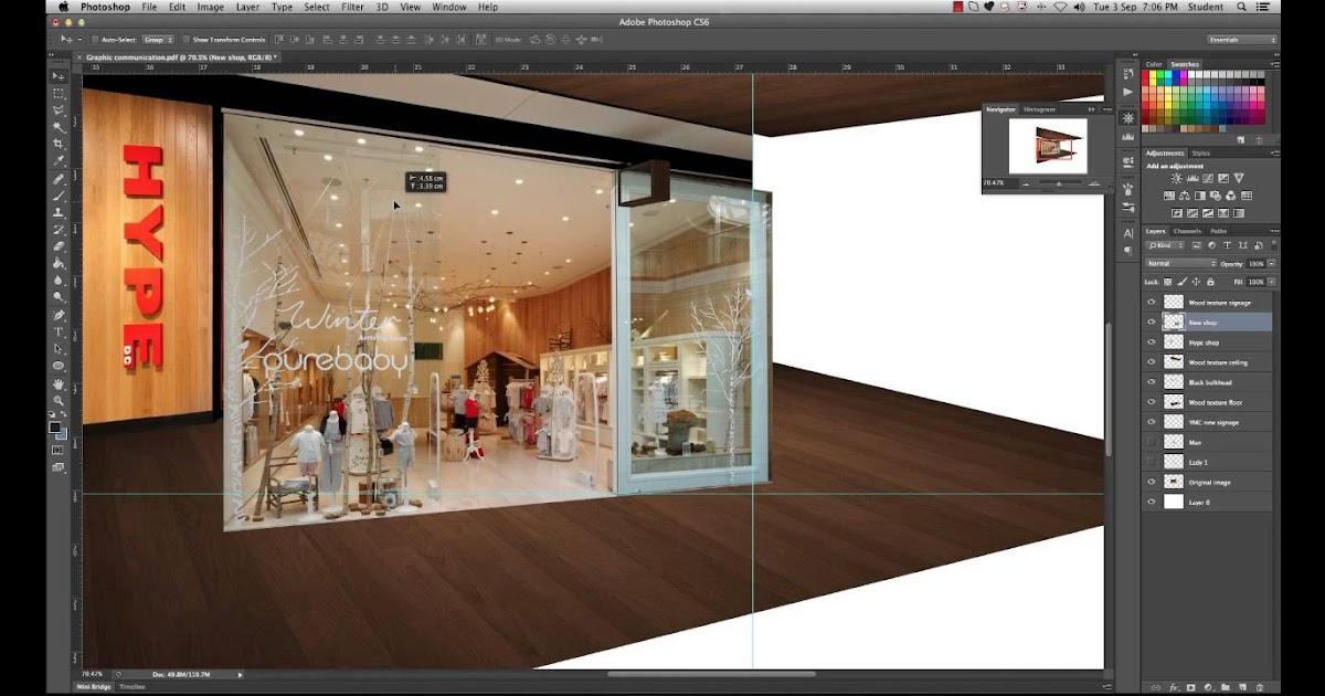 Photoshop Tutorial Part 4 Modifying The Shop Facade Photoshop For Interiors