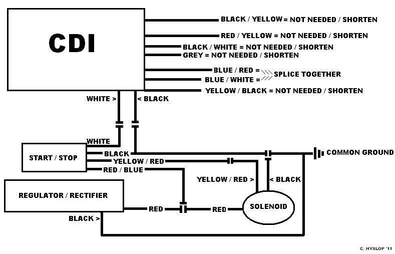 Yamaha Wiring Diagram Schematic 95 1100