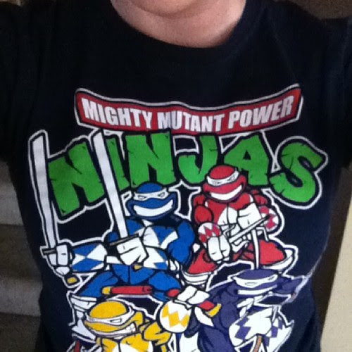 Day 5: Geek Fashion - Today's shirt for the con. #iggppc30d2 #iggppc #tmnt #powerrangers