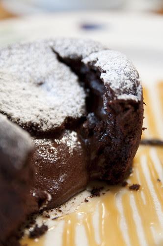 Warm Chocolate Cake w/ Vanilla Bean Ice Cream, Restaurant Lulu, San Francisco