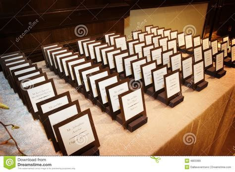 Formal Wedding Place Cards Royalty Free Stock Images