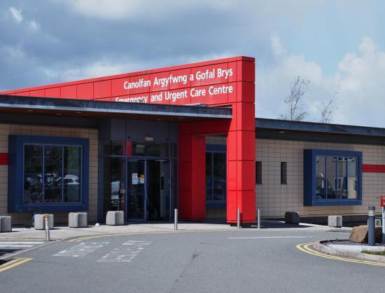 A & E at Withybush Hospital, Haverfordwest