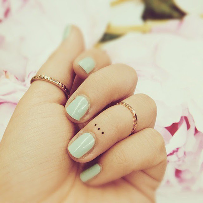 Finger Dots Best Tattoo Design Ideas