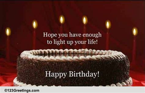 A Birthday Wish To Light Up The Day! Free Happy Birthday