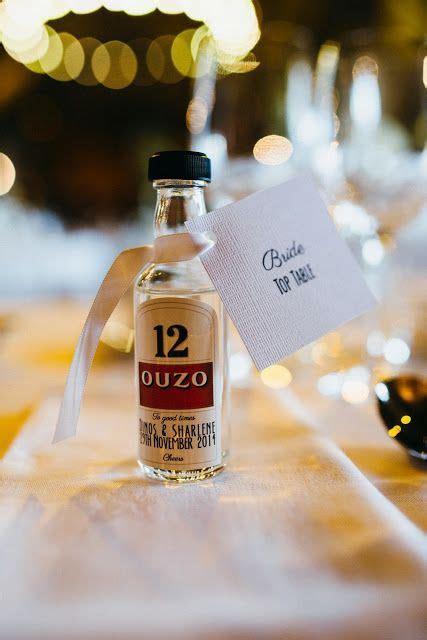 DIY Wedding favours   Miniature alcohol bottles   Wedding