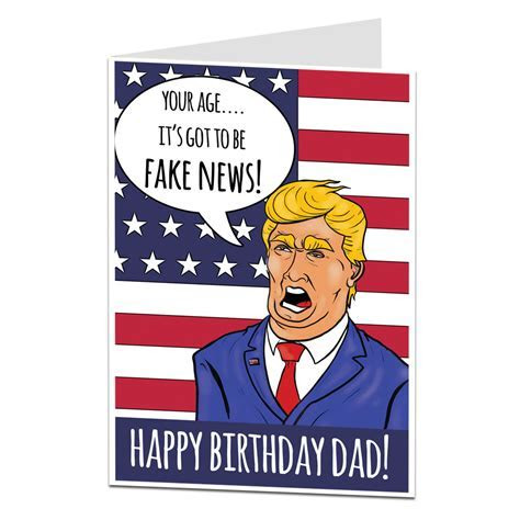 """Fake News"" Funny Birthday Card For Dad   LimaLima"