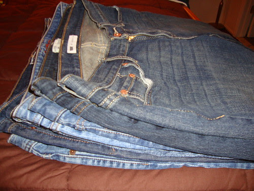 my RTW jeans pile
