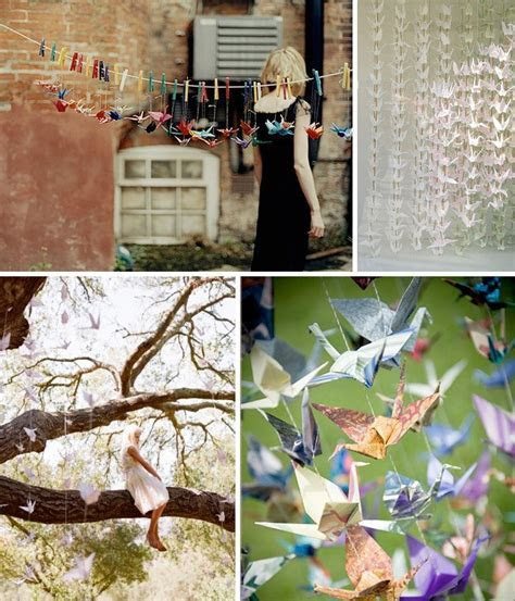 Hanging Paper Cranes and more at your Wedding