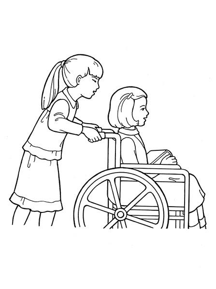 Children Girls Wheelchair Handicapped 1232939 Galleryok Conexión Sud