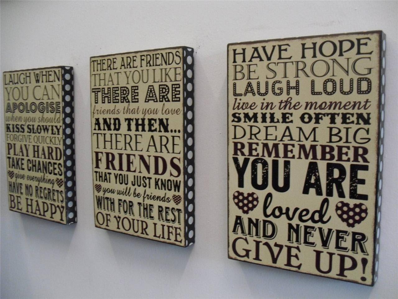 Wooden Word Plaques | eBay