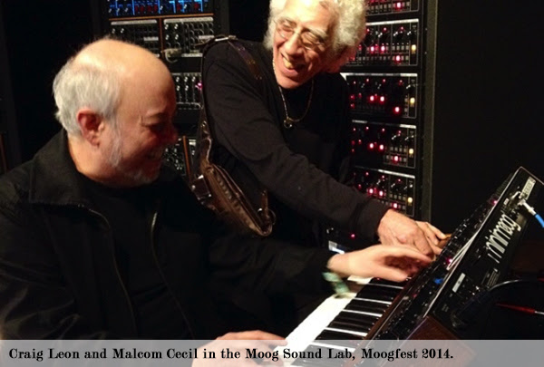 Craig Leon and Malcom Cecil in the Moog Sound Lab, Moogfest 2014