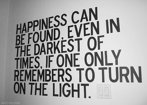 Happiness Can Be Foundeven In The Darkest Of Timesif One Only