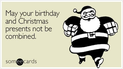 Image result for christmas eve birthday meme