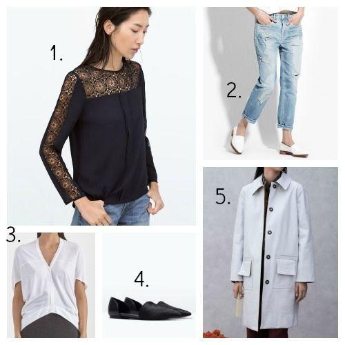 Zara Top - Ayr Jeans - Helmut Lang Top - Zara Flats - Trademark Coat