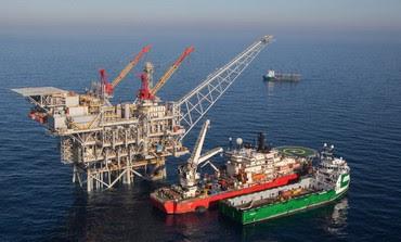 Tamar natural gas rig.