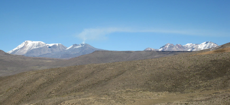 Andean peaks close to Amazon source