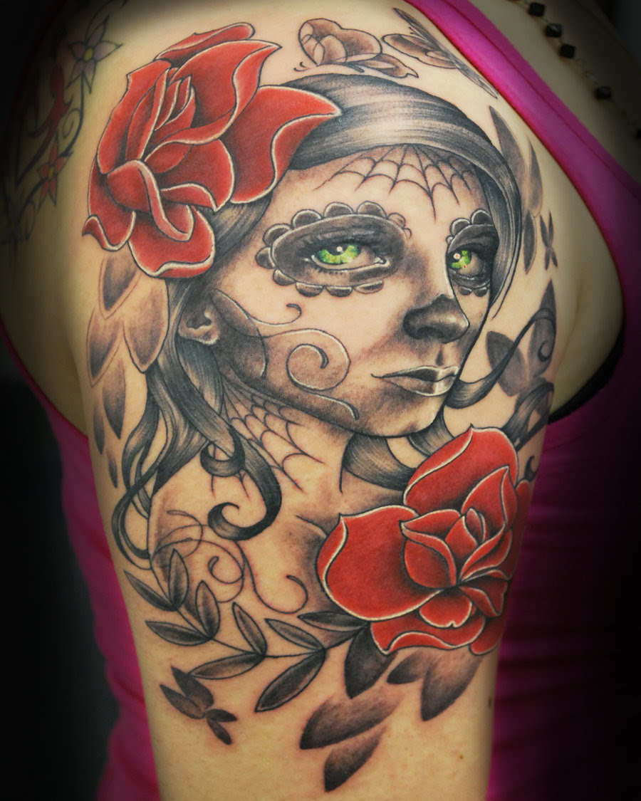 Sugar Skull Half Sleeve Tattoo Tattoomagz