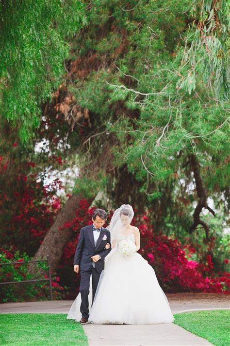Romantic Pink Wedding Filled With Orchids   Bridal Musings