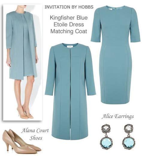 Light Blue Shift Dress and Matching Coat Spring Wedding