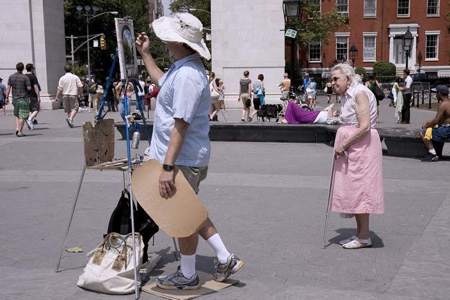 Washington Square Park, painter