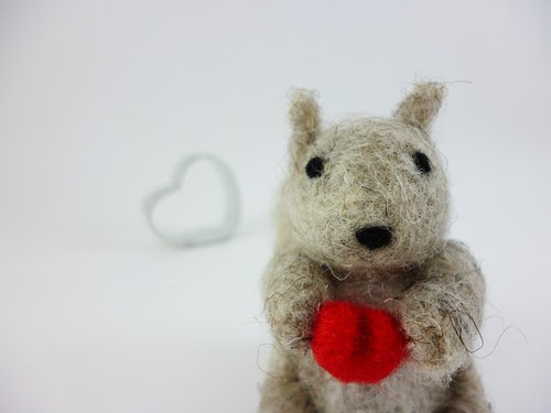 Little Squirrel with heart