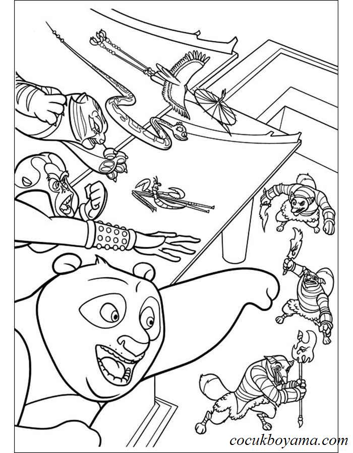 Kung Fu Panda 33 ücretsiz Boyama Resimleri