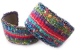 Tapestry/Bead Cuff Bracelet....so cool, I would def buy this, not sure about getting a loom to make it though