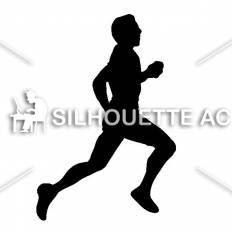 走る人シルエット イラストの無料ダウンロードサイトシルエットac
