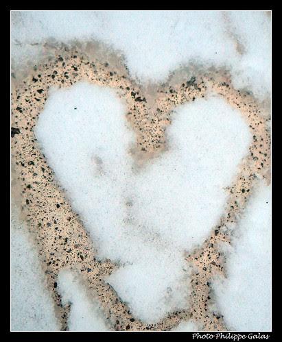 coeur enneigé