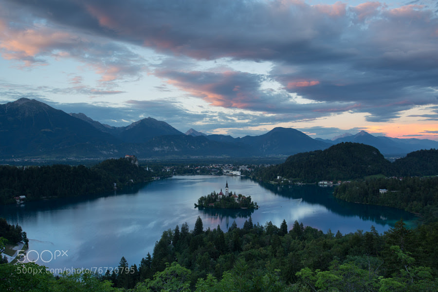 Photograph Sunset of Bled by Simone De Cillia on 500px
