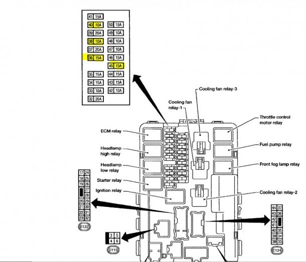 2013 Nissan Altima Fuse Box Diagram