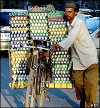 Egg vendor in Hyderabad