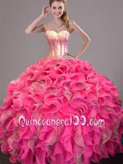 Pink/gold   Quinceañera   Dresses, Sweet 16 dresses