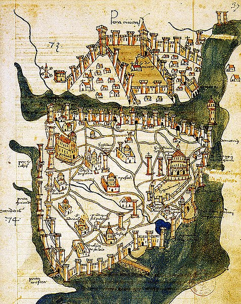 File:Map of Constantinople (1422) by Florentine cartographer Cristoforo Buondelmonte.jpg