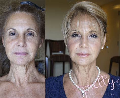before and after natural glow . mature makeup www
