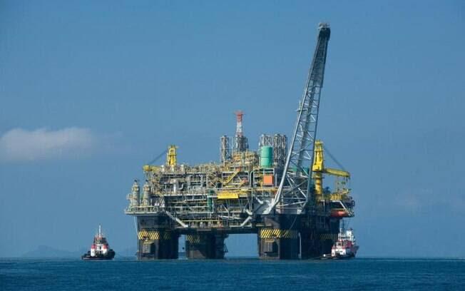 Plataforma da Petrobras, na bacia de Pelotas