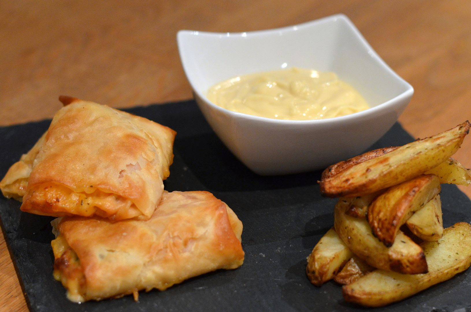 Vegetable Parcels with Herby Chips & Honey Mustard Mayo