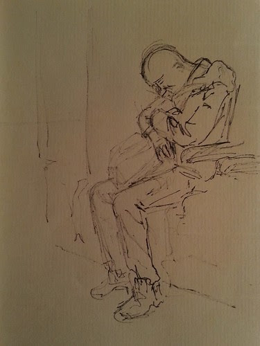 Dude Asleep on Train by Rafianimates