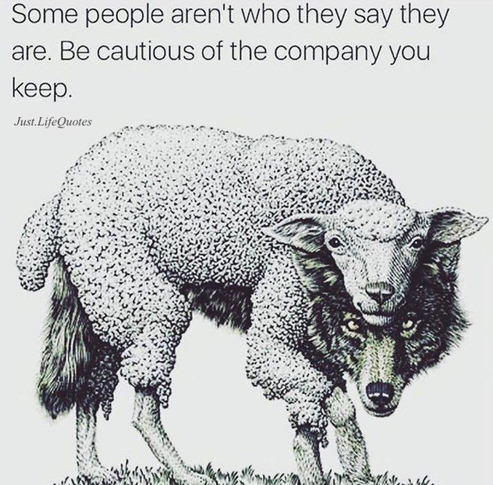 Some People Arent Who They Say They Are Be Cautious Of The Company