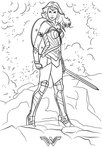 540 Top Coloring Pages Wonder Woman For Free