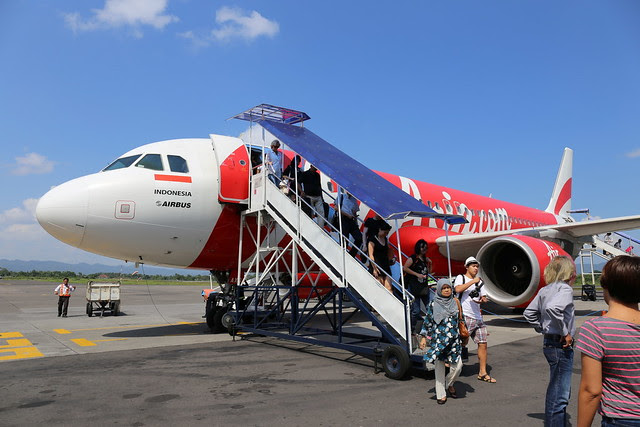 AirAsia touched down in Yogyakarta on a sunny day