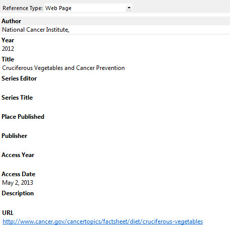 How Do I Cite A Web Page Using Endnote Libanswers