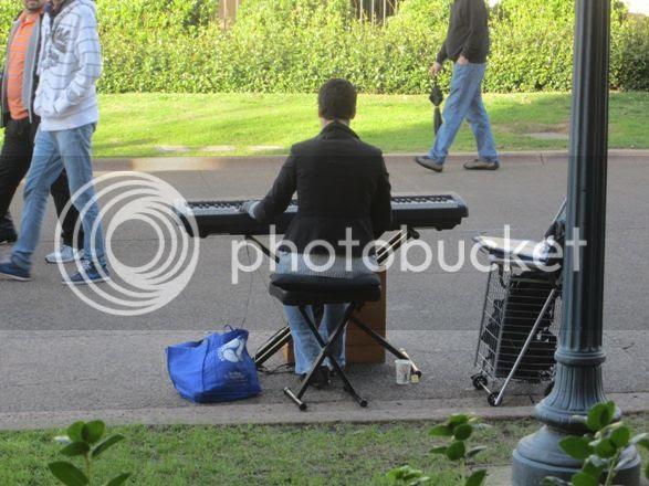 Street musician, Balboa Park