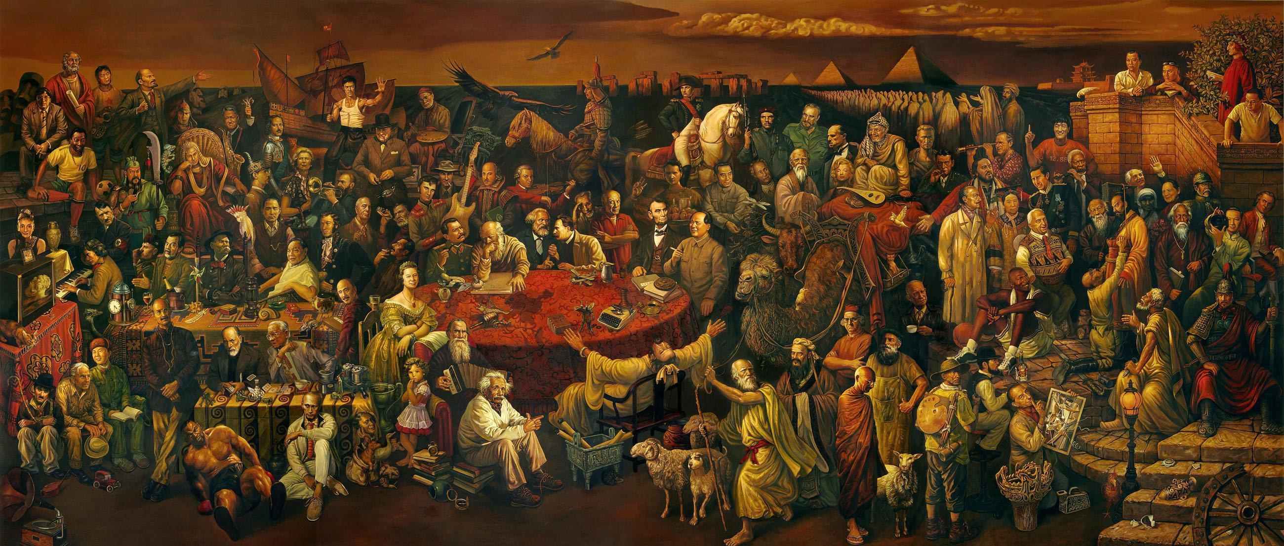 Pintura de personas famosas.